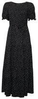 Dorothy Perkins Womens Black Puff Sleeve Midi Dress, Black