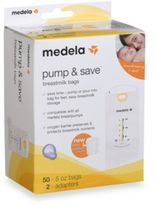 Medela Pump & SaveTM 50-Count Breastmilk Bags with Easy-Connect Adapter