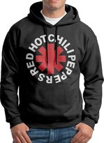 Sarah Men's Red Hot Chili Peppers Rock Band Logo Hoodie S