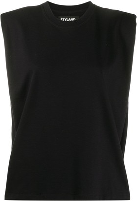Styland Shoulder Pad Tank Top