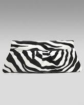Eve Zebra-Print Clutch