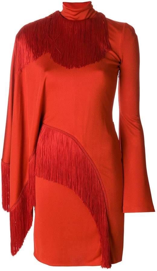 Givenchy asymmetric fringed dress