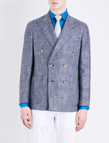 Richard James Check-pattern wool and linen-blend jacket