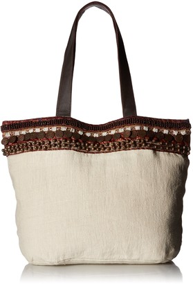 Ale By Alessandra Women's Cleopatra Soft Linen Tote With Coin Belt