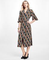 Brooks Brothers Silk Crepe Twirl Dress