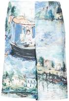 Off-White impressionist paint print shorts