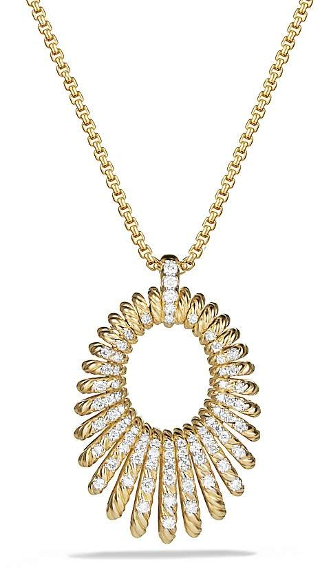 David Yurman Tempo Necklace with Diamonds in 18K Gold