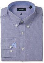 Nautica Men's Dobby Shirt with Button-Down Collar