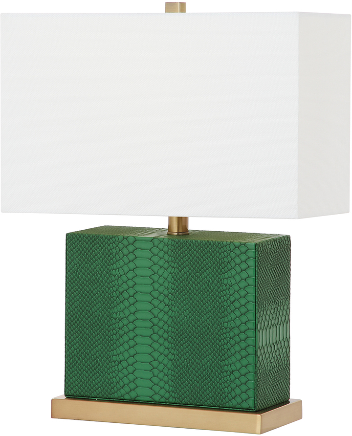 Safavieh Green Diego Faux Snakeskin Table Lamp
