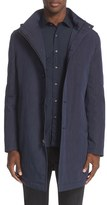 John Varvatos Men's Trim Fit Top Coat