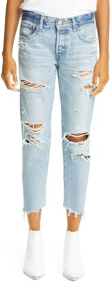Moussy Creston Ripped Tapered Jeans