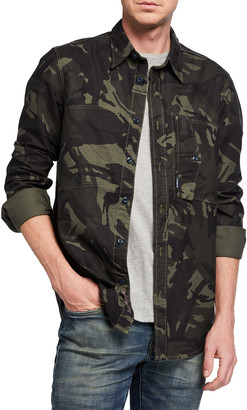 G Star Men's Scutar Camo Sport Shirt