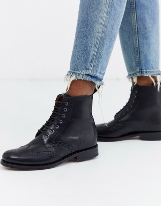 Grenson Ella leather brogue ankle boot