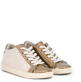 Leather Crown Kids lace-up sneakers