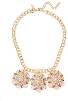 New York & Co. Goldtone Medallion Statement Necklace