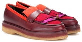 Etro Leather Platform Loafers