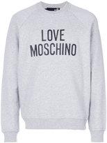 Love Moschino logo print sweatshirt - men - Cotton/Spandex/Elastane - XS