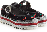 Marc by Marc Jacobs Embroidered Velvet Mary-Janes