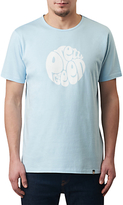 Pretty Green Eastfields Logo T-shirt, Sky Blue