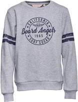 Board Angels Girls Crew Neck Sweatshirt Grey Marl