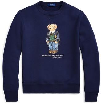 Ralph Lauren Preppy Bear Fleece Sweatshirt