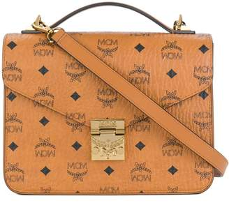 MCM printed crossbody satchel