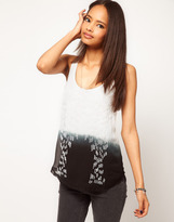 Asos Tank with Embellished Woven Front