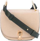 Marni contrast strap satchel - women - Cotton/Goat Skin/Polyurethane/Brass - One Size