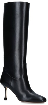 Francesco Russo Leather Knee-High Boots 75