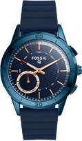 Fossil Q Women's Modern Pursuit Blue Silicone Strap Hybrid Smart Watch 41mm FTW1136