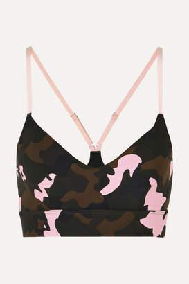 The Upside Zoe Camouflage-print Stretch Sports Bra - Army green