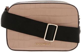 Coccinelle Tebe Croco Zip Around Crossbody Bag