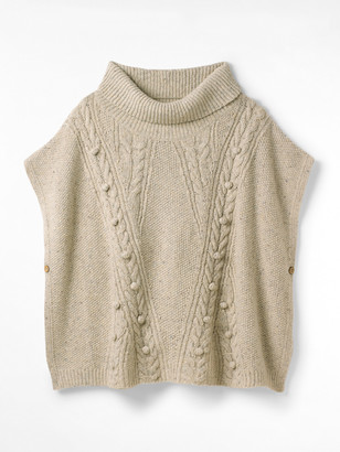 White Stuff Chunky Cable Poncho