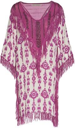 Ada Kamara Embellished Fringe Dress In Magenta