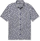 Issey Miyake Printed Cotton-voile Shirt