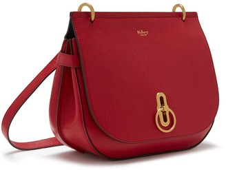 Mulberry Amberley Satchel Scarlet Small Classic Grain