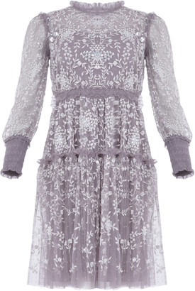 Needle & Thread Whitethorn Embroidered Mini Dress