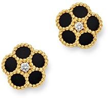 Roberto Coin 18K Yellow Gold Daisy Diamond & Black Onyx Stud Earrings - 100% Exclusive