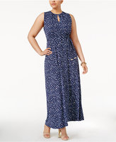 MICHAEL Michael Kors Size Clara Belted Maxi Dress