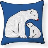 Little Polar Bear Throw Pillow Naked Decor