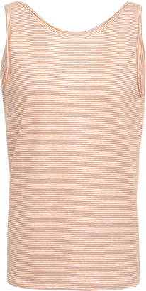 Theory Striped Linen-blend Jersey Tank
