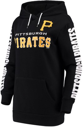 G Iii Women's G-III 4Her by Carl Banks Black Pittsburgh Pirates Extra Innings Pullover Hoodie