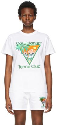 Casablanca White Tennis Club T-Shirt