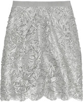 Moschino Cheap and Chic Metallic appliqué skirt