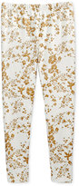 Epic Threads Girls' Metallic Floral-Print Leggings, Only at Macy's
