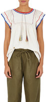 Ulla Johnson Women's Katya Crochet-Trimmed Silk Blouse