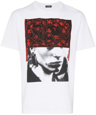 Raf Simons face and pattern print cotton T-shirt