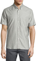 Billy Reid Solid Short-Sleeve Shirt, Gray