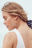 Urban Outfitters Etched Rose Statement Hoop Earring