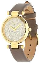 JOOP! Women's Quartz Watch with Black Dial Analogue Display and Gold Leather JP101722003 MARTHA